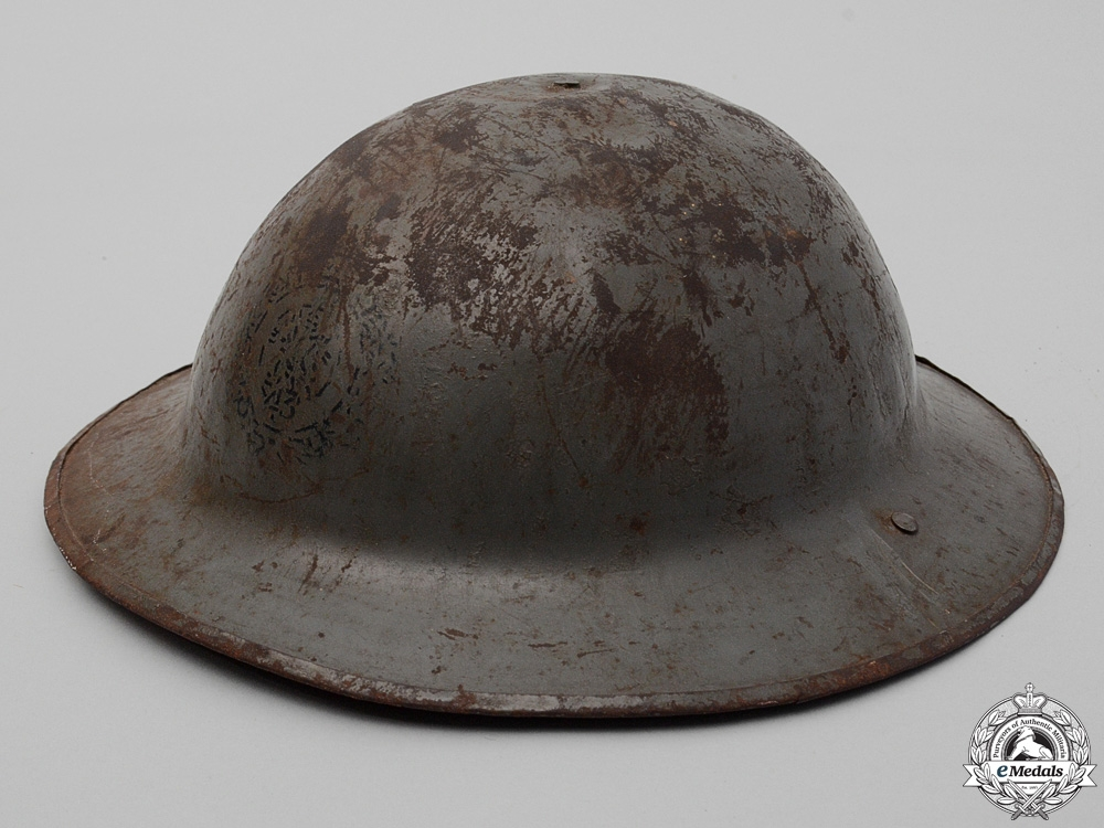 eMedals-A First War Mark II 43rd Infantry Battalion Helmet
