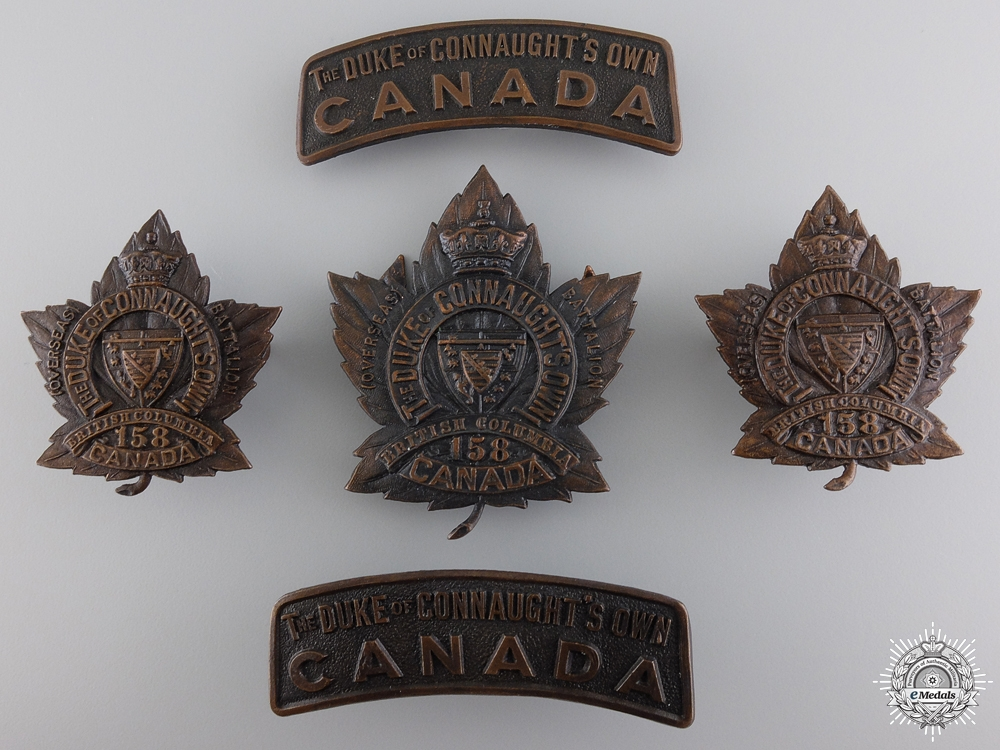 eMedals-158th Battalion Duke of Connaught's Own CEF Insignia