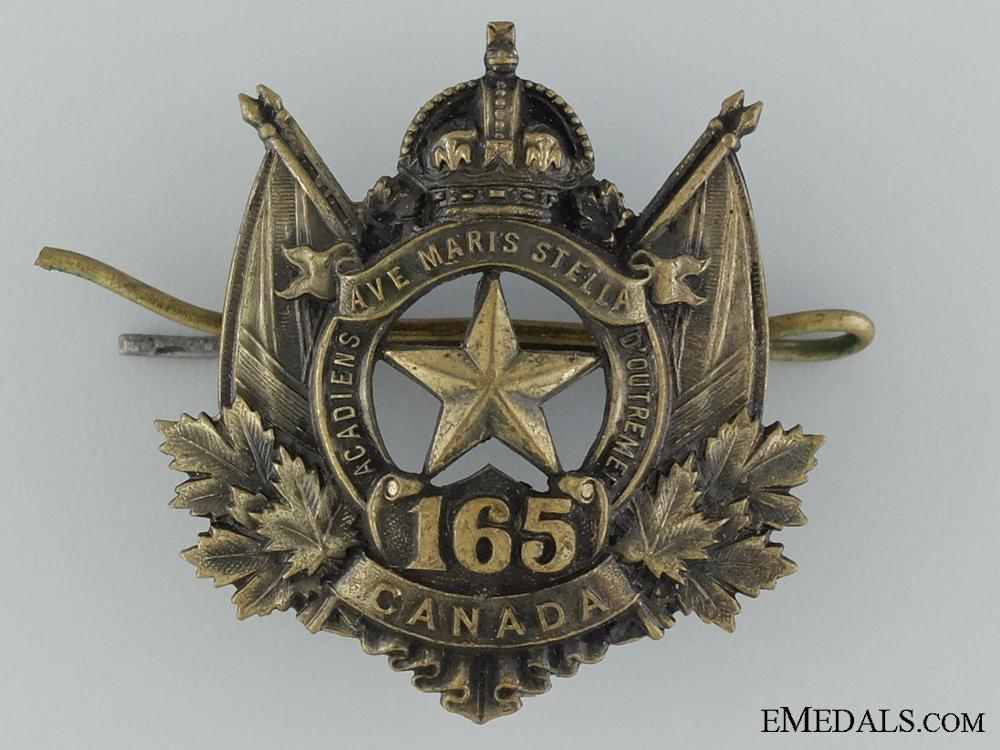 eMedals-165th Battalion (Moncton N.B., Acadians) Cap Badge CEF