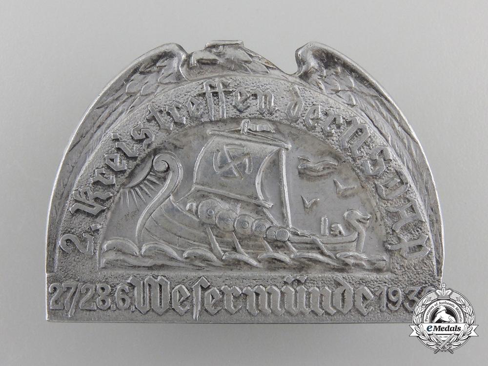 eMedals-A 1936 NSDAP 2. Kreistreffen Badge