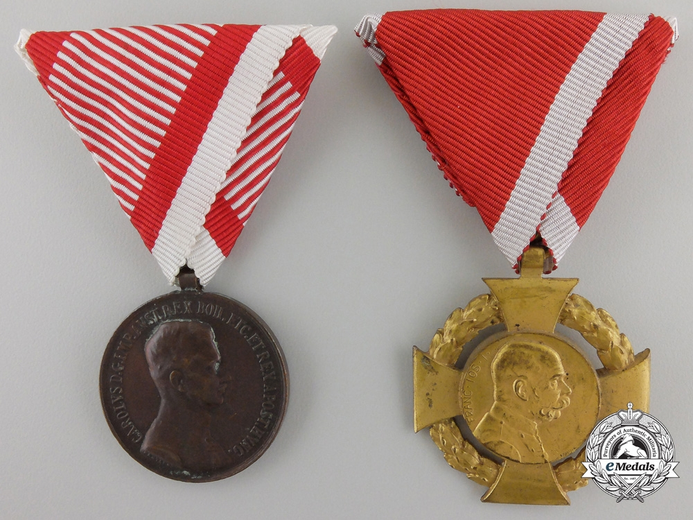 eMedals-Two Austrian Medals & Awards
