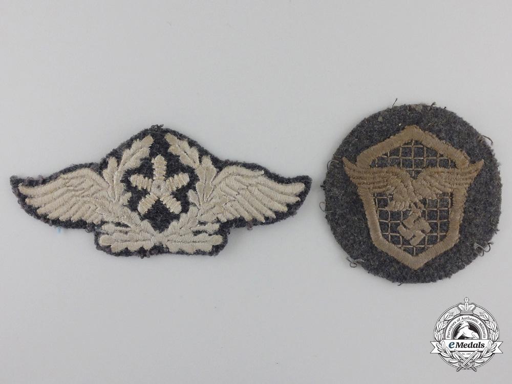 eMedals-Two Luftwafffe Cloth Insignia