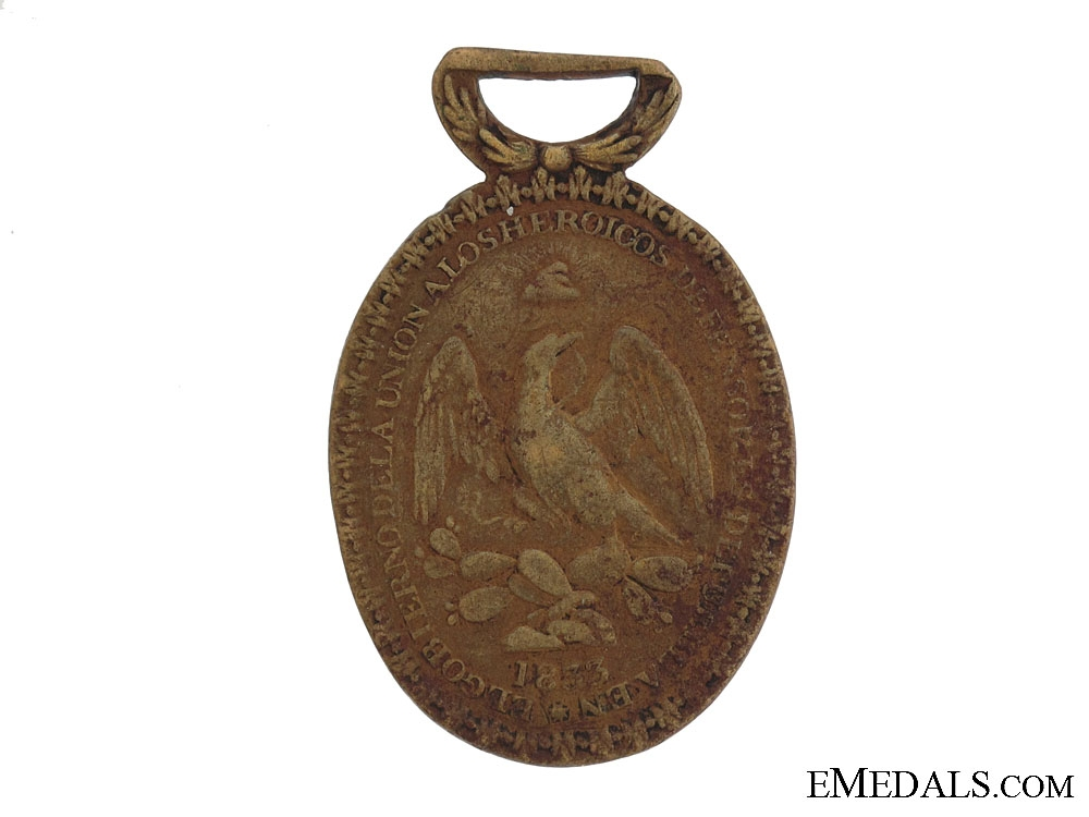 eMedals-1833 Defence of Puebla Medal