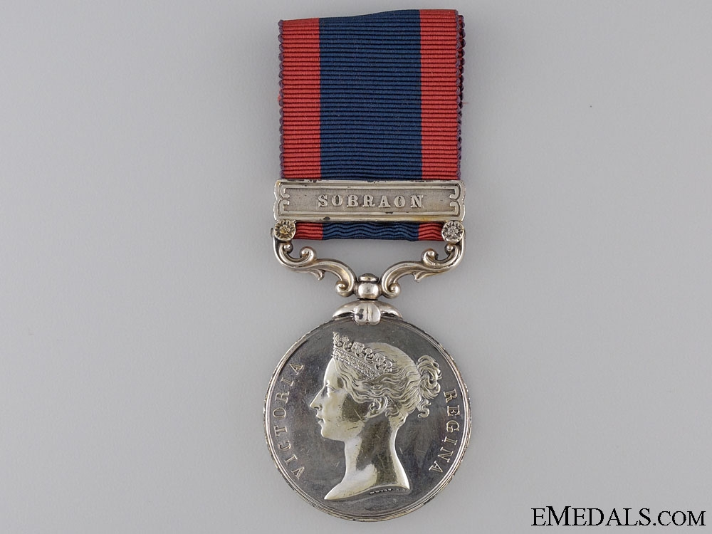 eMedals-An 1845 Sutlej Medal; Unnamed
