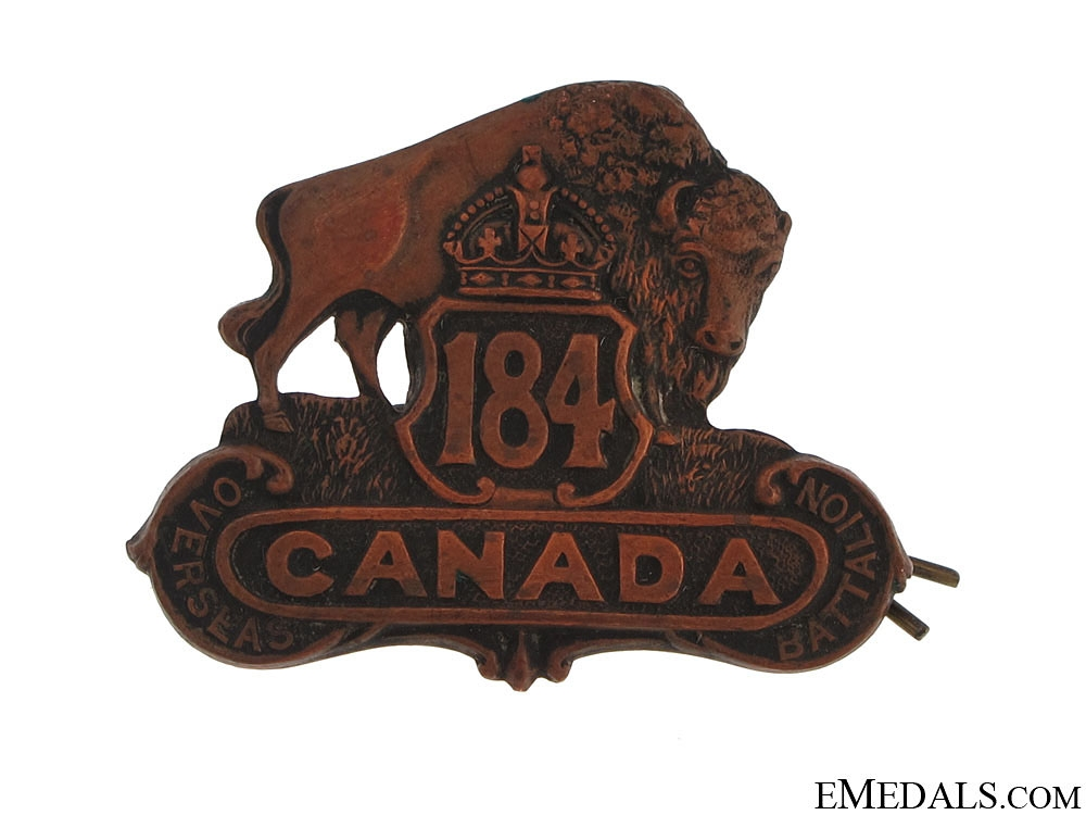 eMedals-184th Bn Lisgar Manitoba Cap Badge CEF