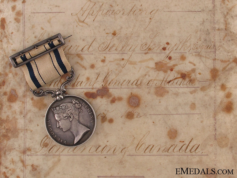 eMedals-1853 South Africa Medal to Commander of Cdn Militia 4500