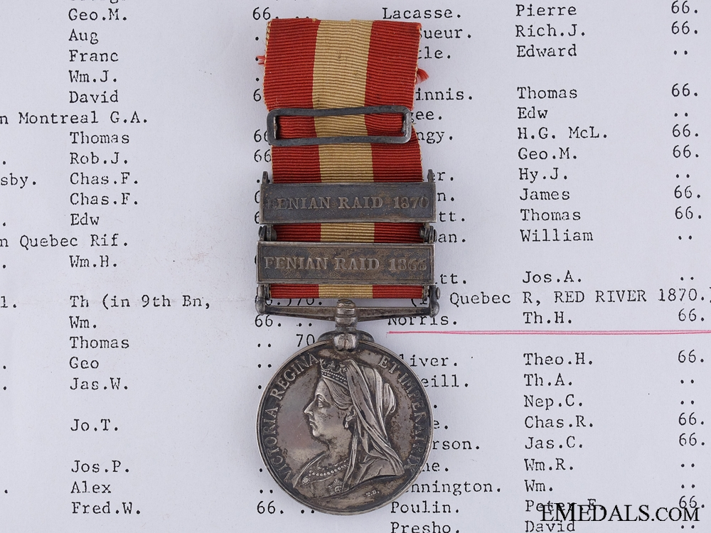 eMedals-A Canada General Service Medal to Bugler Norris; 8th Battalion