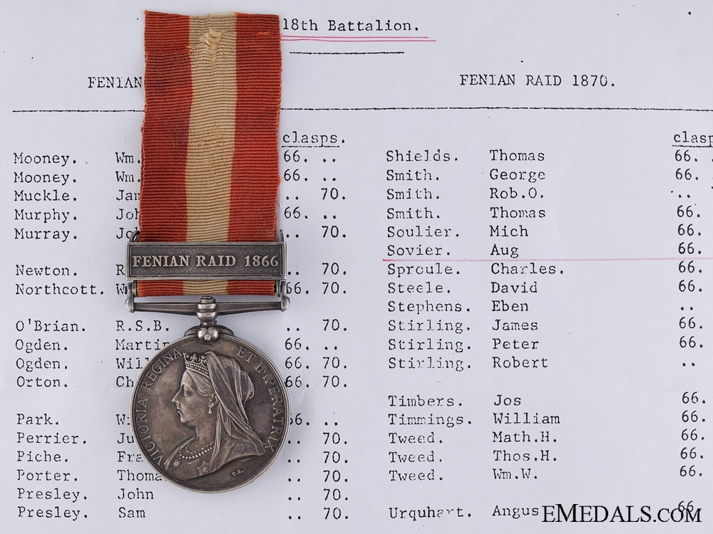 eMedals-A Canada General Service Medal to the 18th Battalion