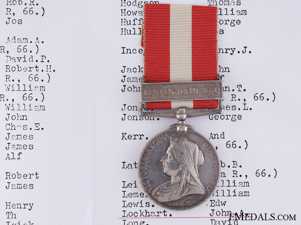 eMedals-1866-70 Canada General Service Medal to the 37th Battlion