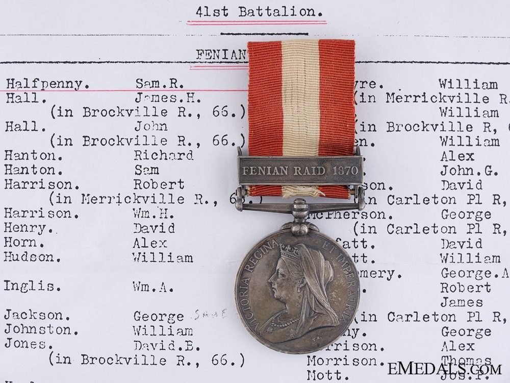 eMedals-1866-70 Canada General Service Medal to the 41st Battalion