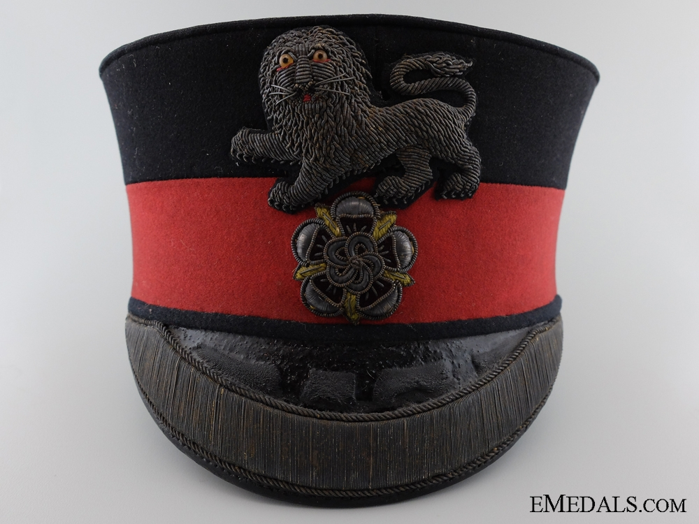 eMedals-1880's King's Own Royal Regiment (Lancaster) Officer's Pill Box Cap