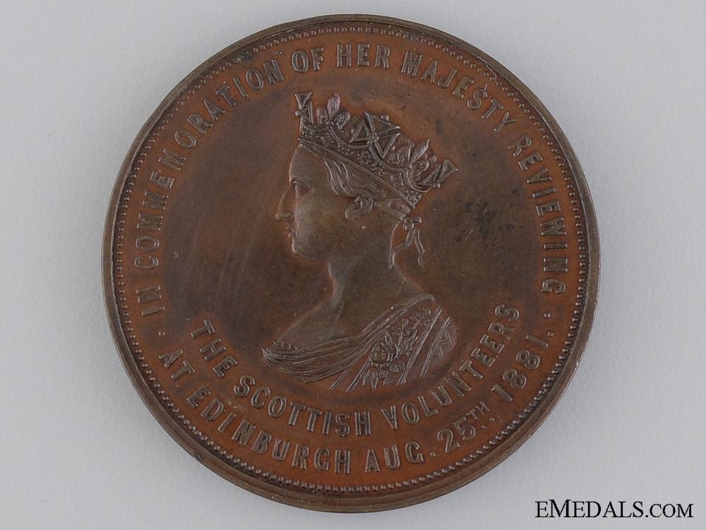 eMedals-1881 Scottish Volunteer Review by Queen Victoria Medal