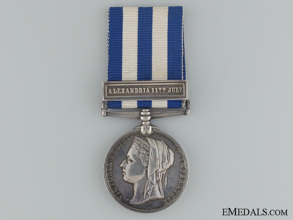 eMedals-1882-89 Eygpt Medal to HMS Temeraire