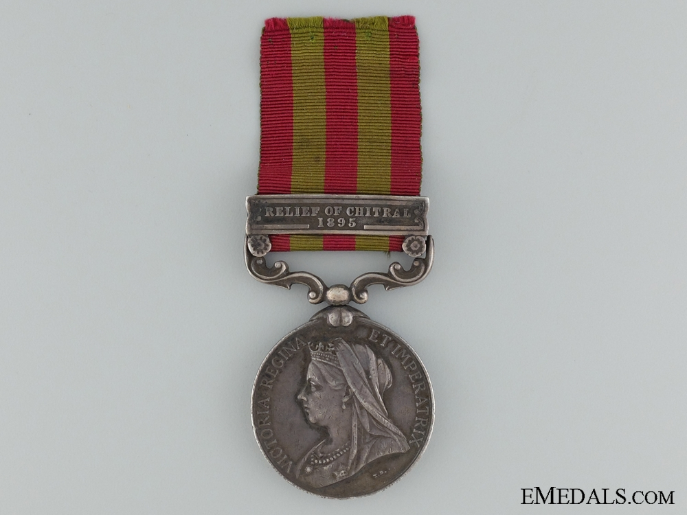 eMedals-1895 Indian Medal to the King's Royal Rifle Corps