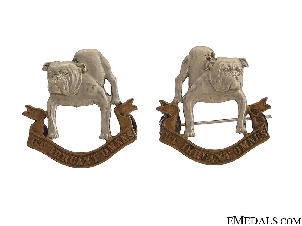 eMedals-18th Manitoba Mounted Rifles Officer Collar Badges