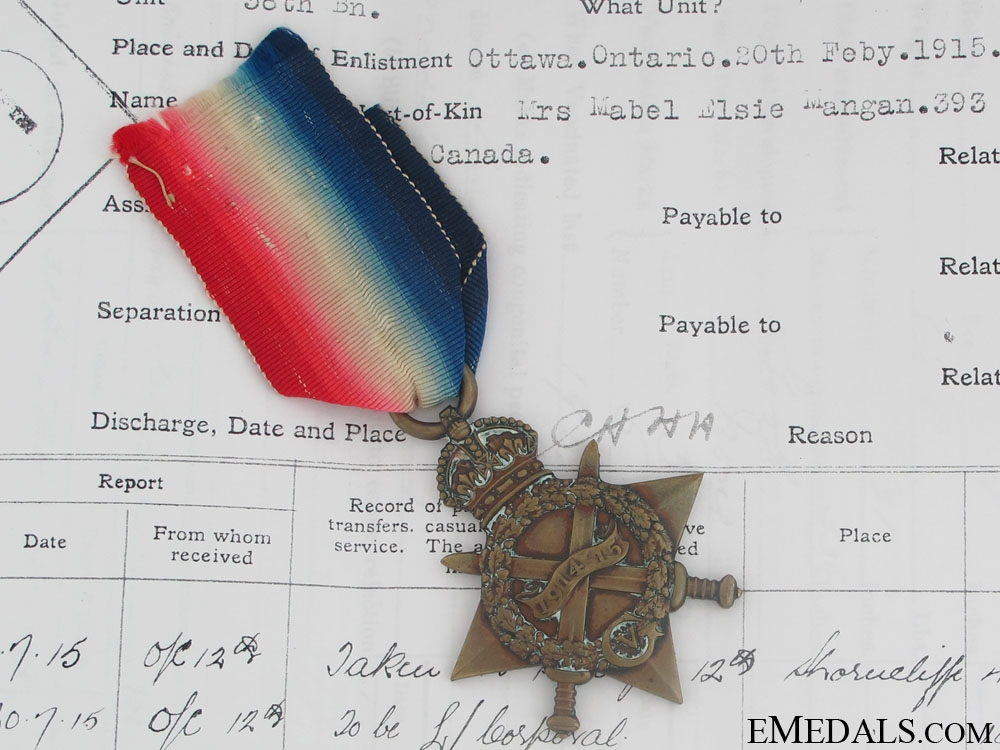 eMedals-1914-15 Star - Trench Raid KIA