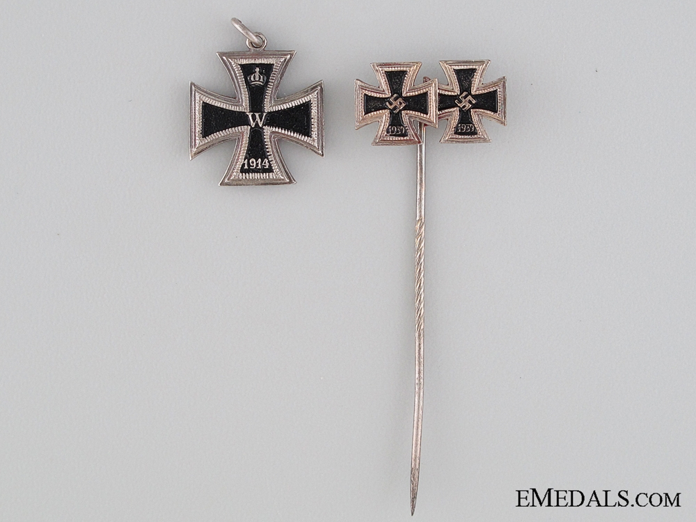 eMedals-1914/39 Iron Cross Miniature and Stickpin