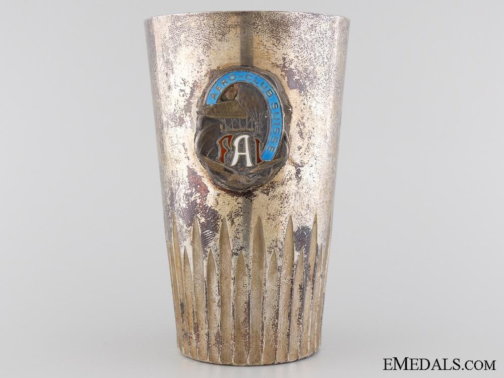 eMedals-A Swiss 1914 FAI Balloon Competition Award Cup to Professor Liefmann