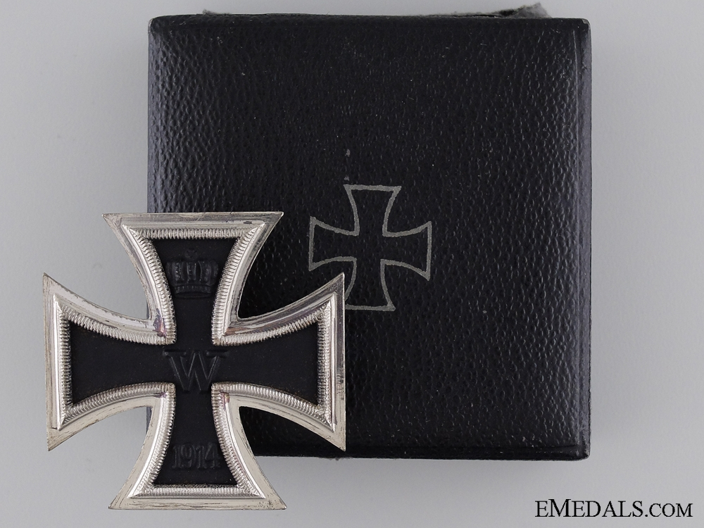 eMedals-1914 First Class Iron Cross with Case of Issue