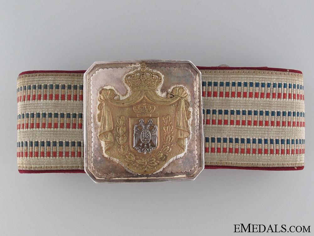 eMedals-1920's Royal Yugoslav Officer's Belt & Buckle
