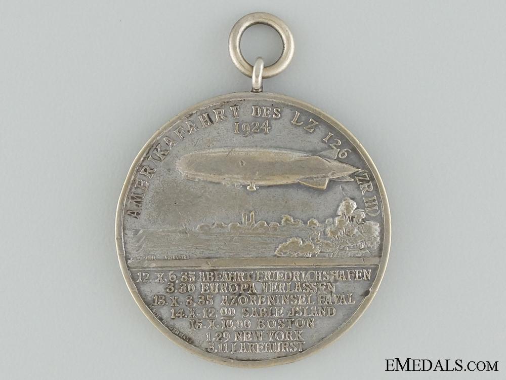 eMedals-1924 Dr.Hugo Eckener LZ 126 Zeppelin American Tour Medal