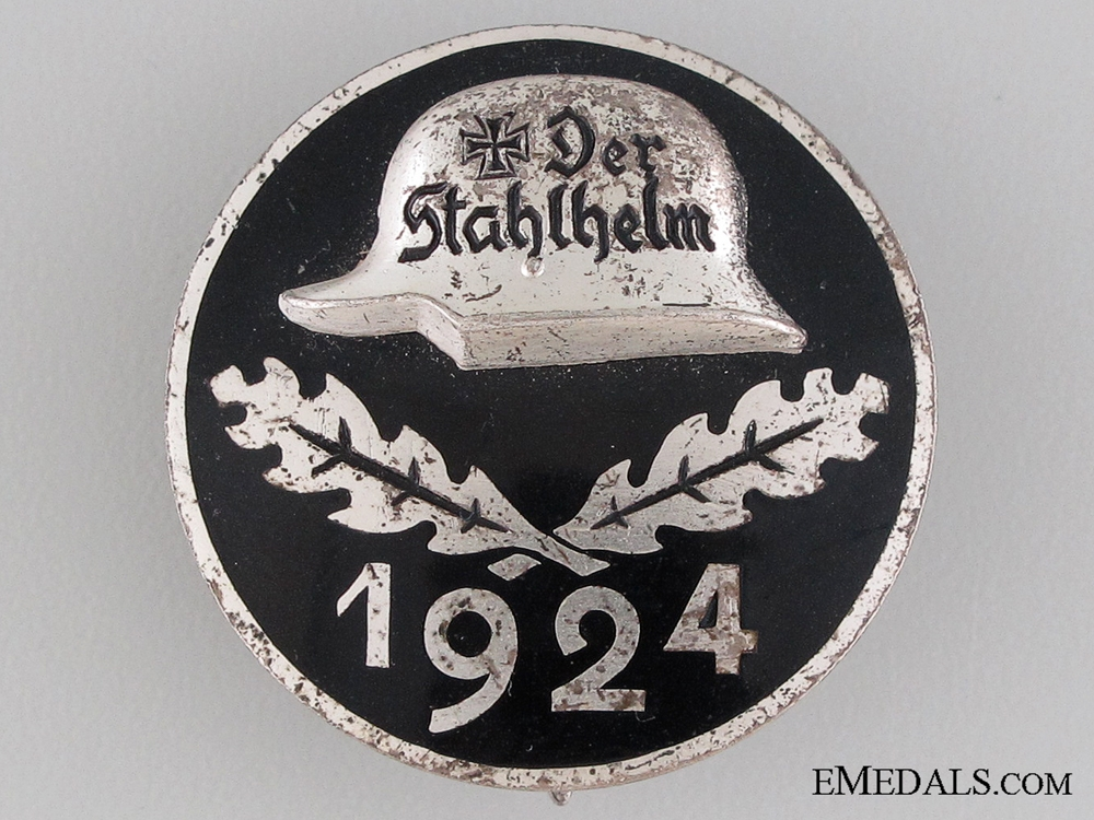 eMedals-1924 Stahlhelm Membership Badge