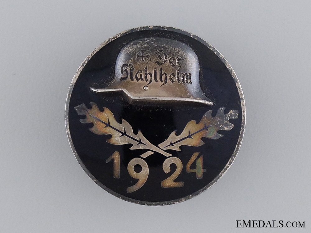 eMedals-A Solid Silver 1924 Stahlhelm Membership Badge