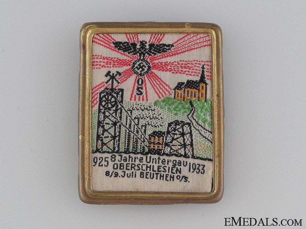 eMedals-1925-33 Jahre Untergau Oberschlesien Badge