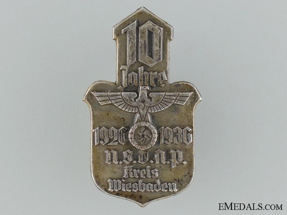 eMedals-1926 NSDAP Weisbaden Tinnie