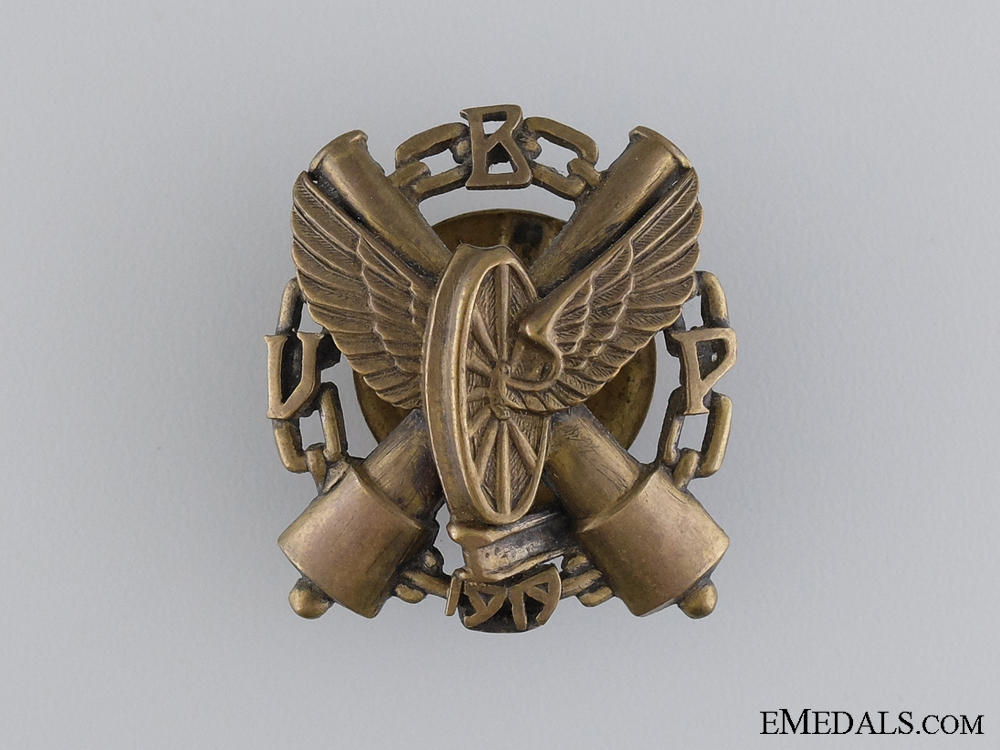 eMedals-1930 Latvian Armoured Train Regiment Badge