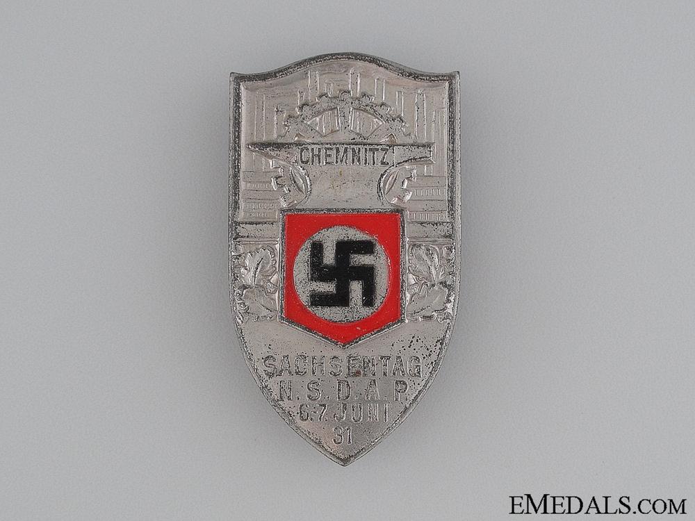 eMedals-1931 NSDAP Sachsentag Commemorative Tinnie