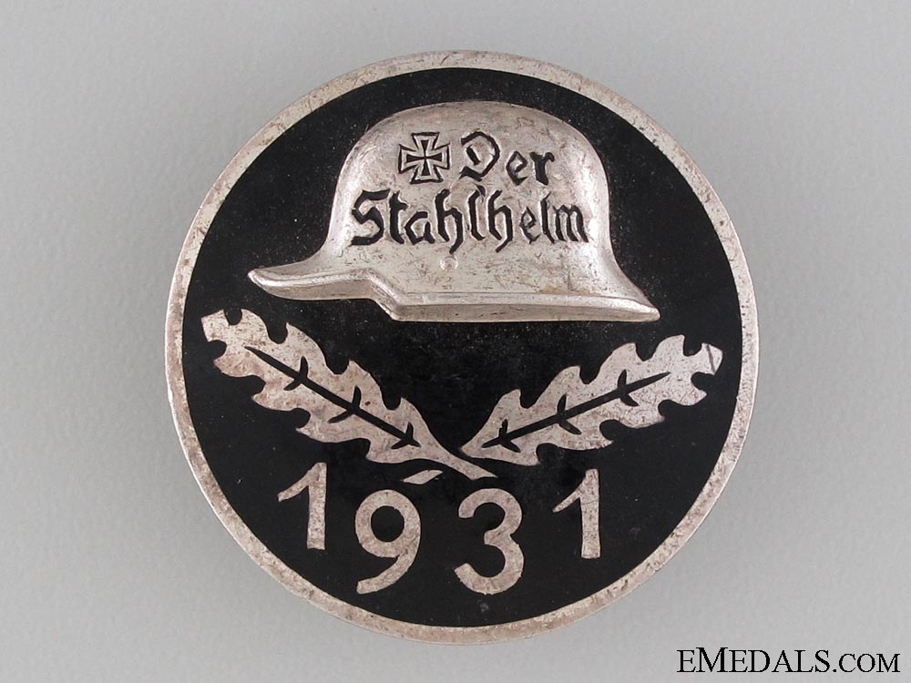 eMedals-1931 Stahlhelm Membership Badge
