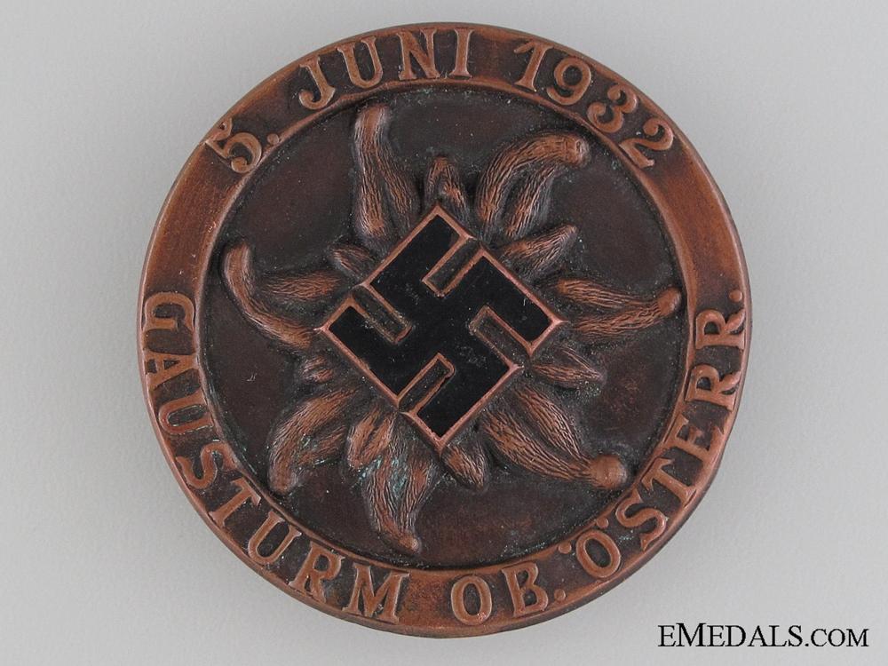 eMedals-1932 Upper Austria Gausturm Tinnie