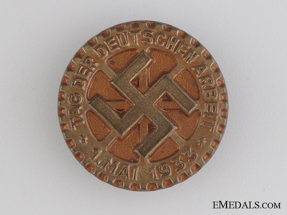eMedals-1933 German Labour Day Tinnie