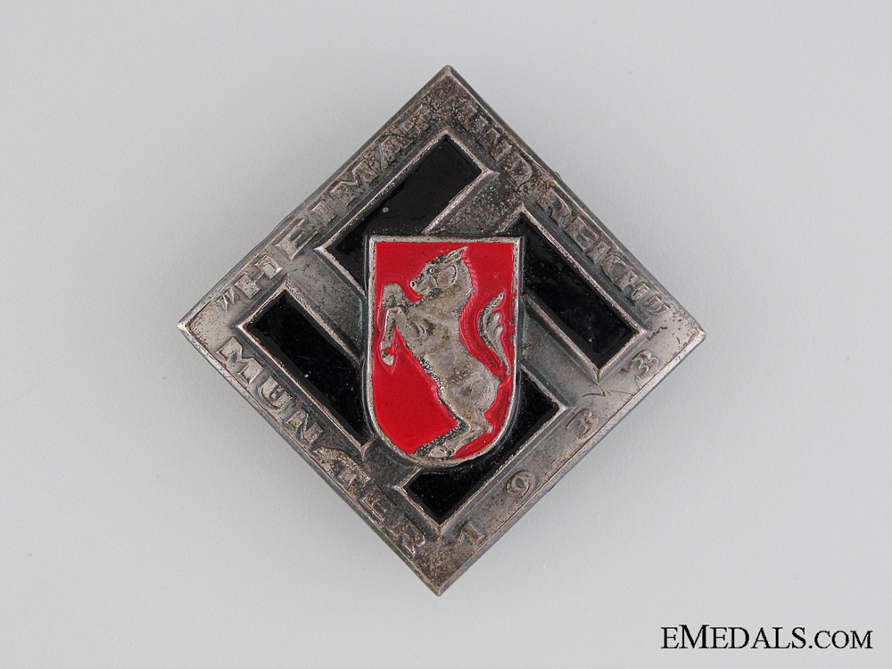 eMedals-1933 Heimat und Reich Munster Tinnie