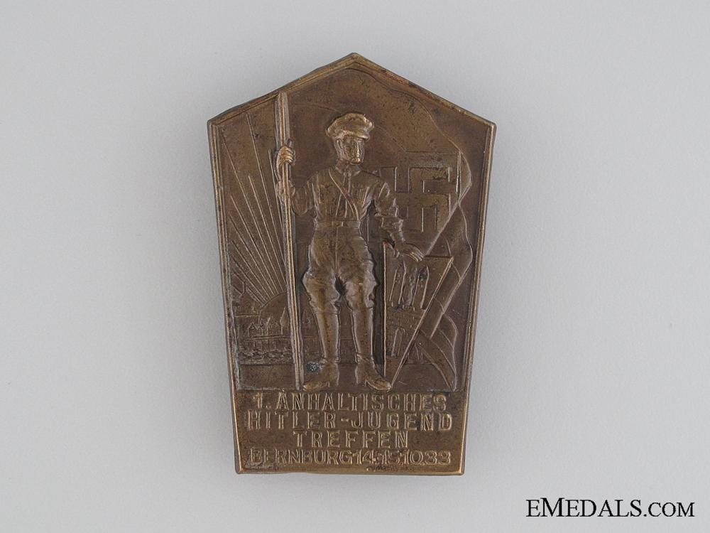eMedals-1933 HJ First Anhalt Gathering Tinnie
