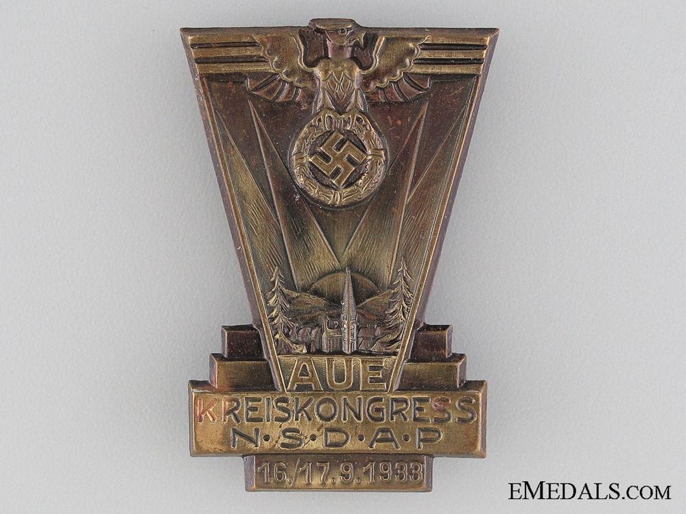 eMedals-1933 NSDAP Kreiskongress Tinnie