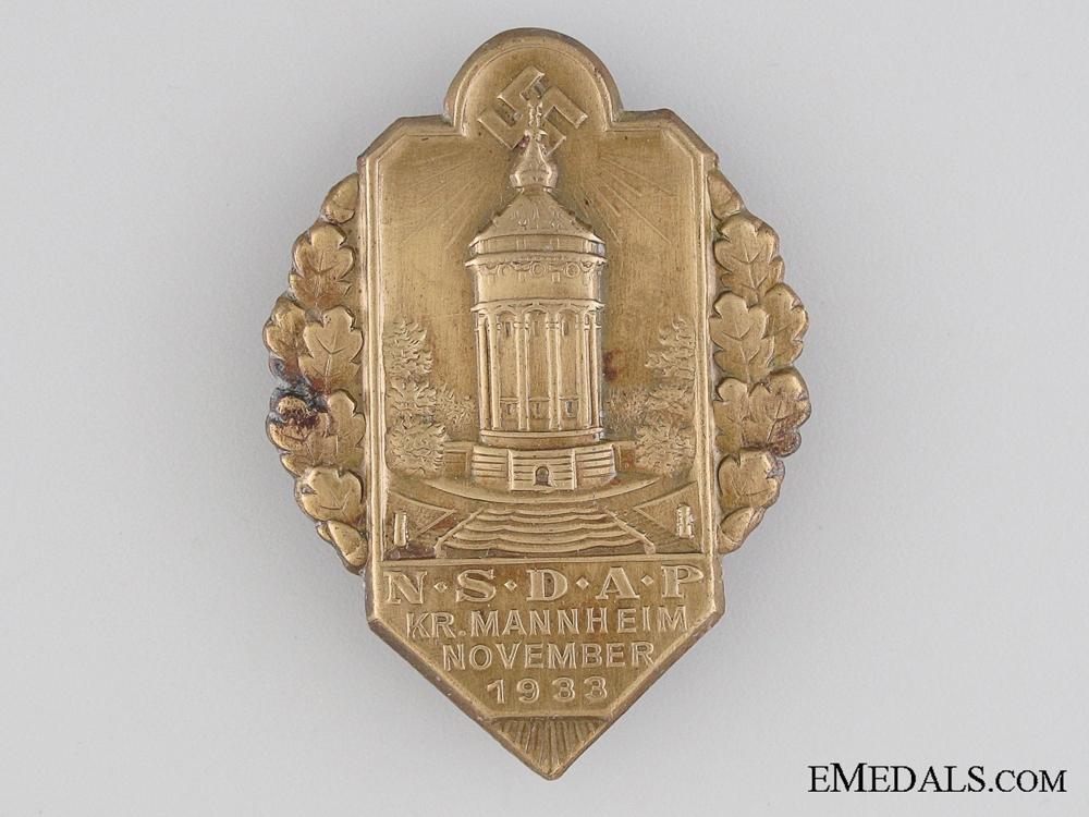 eMedals-1933 NSDAP Mannheim Tinnie