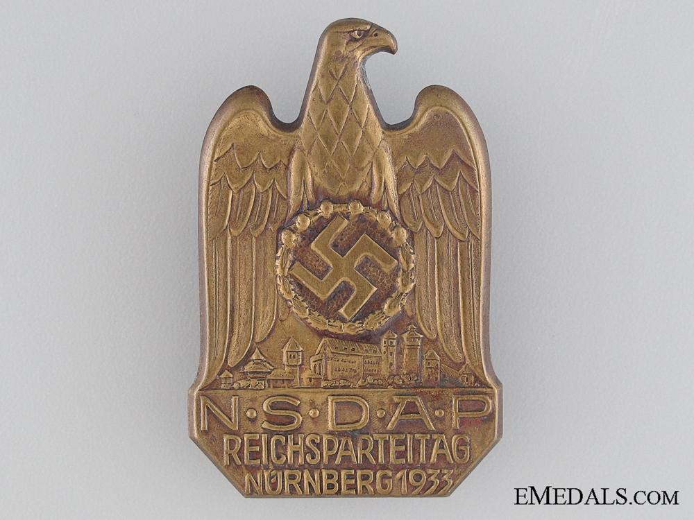 eMedals-1933 NSDAP Nurnberg Tinnie