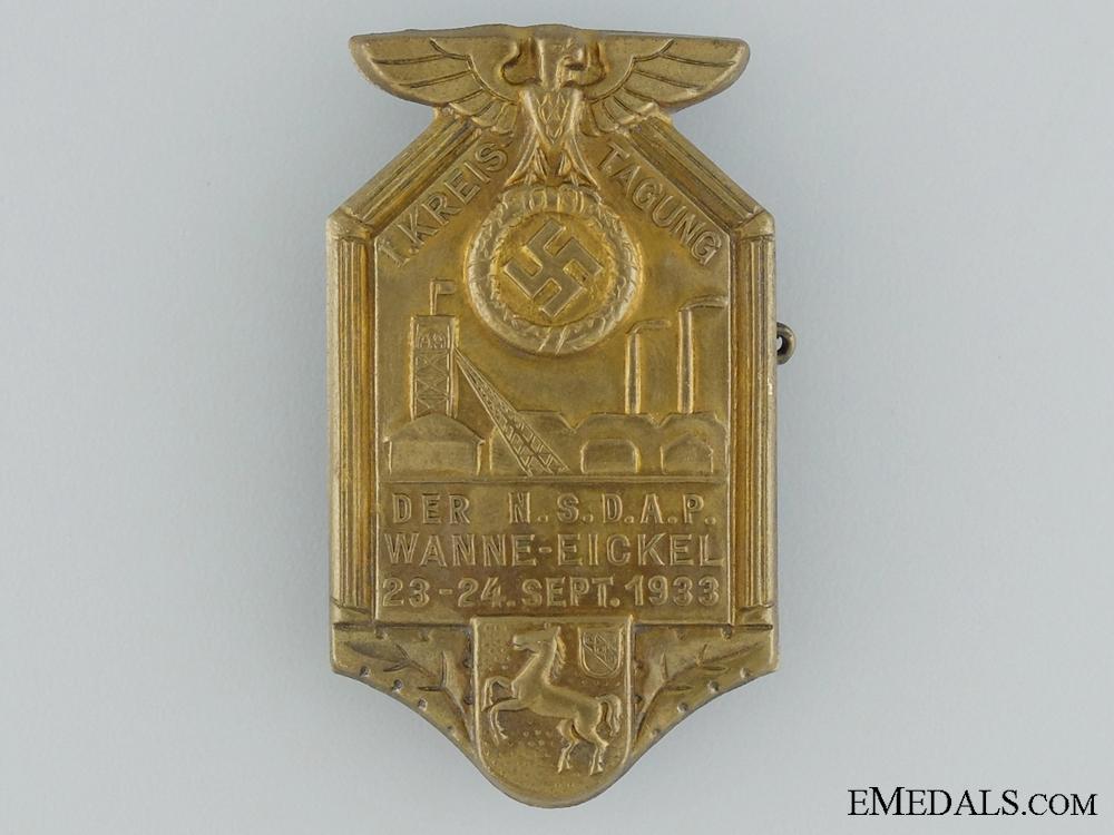 eMedals-1933 NSDAP Wanne-Eickel Tinnie