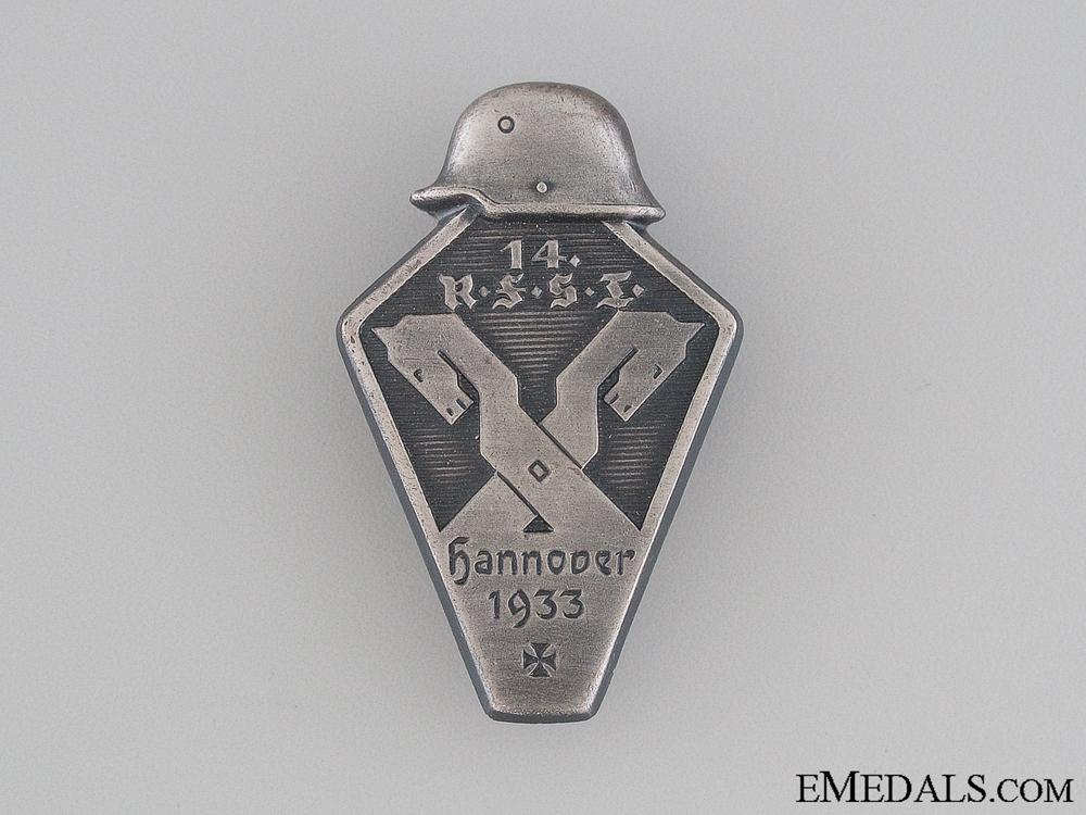 eMedals-1933 RFSI Hannover Tinnie