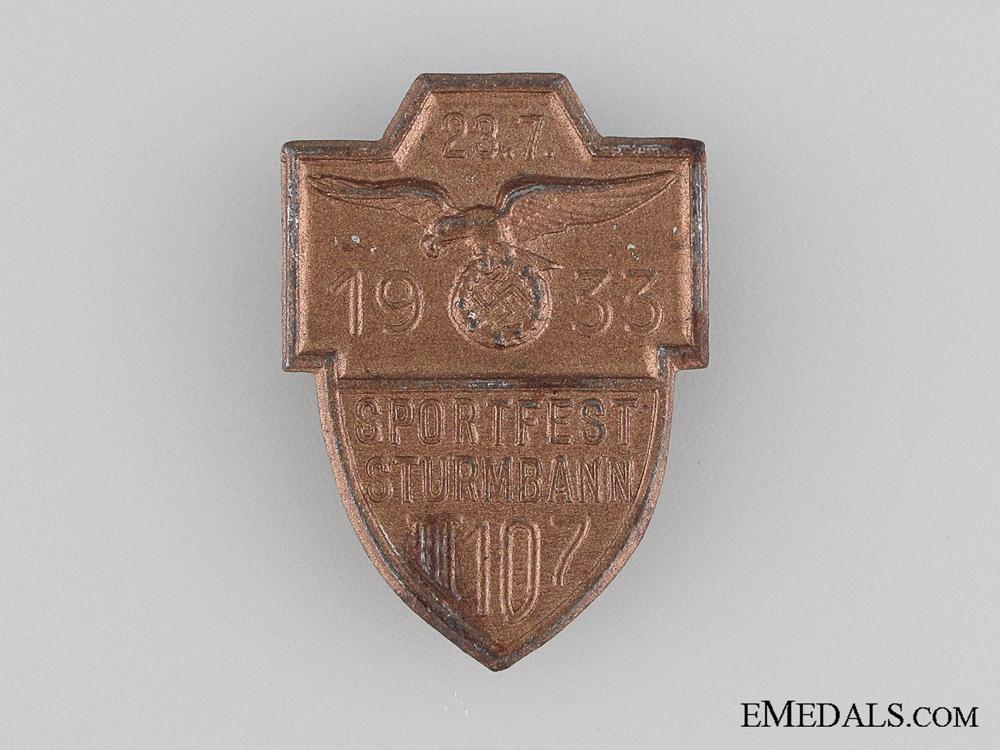 eMedals-1933 Sturmbann III 107 Sportfest Tinnie