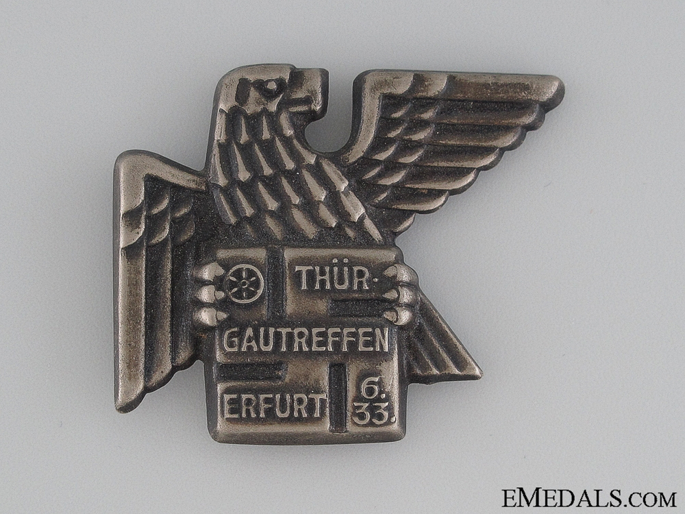 eMedals-1933 Thur Gautreffen Erfurt Tinnie