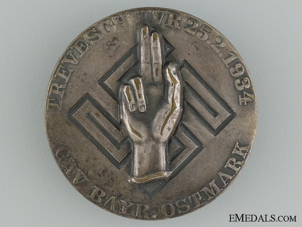 eMedals-1934 Bavarian Swearing the Oath of Allegiance Tinnie