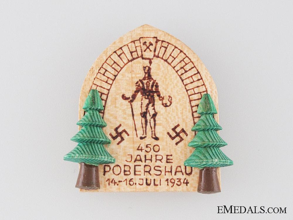 eMedals-1934 Jahre Pobershau Badge