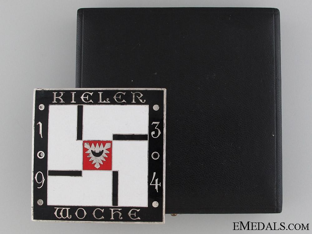 eMedals-1934 Kiel Week Presentation Medal