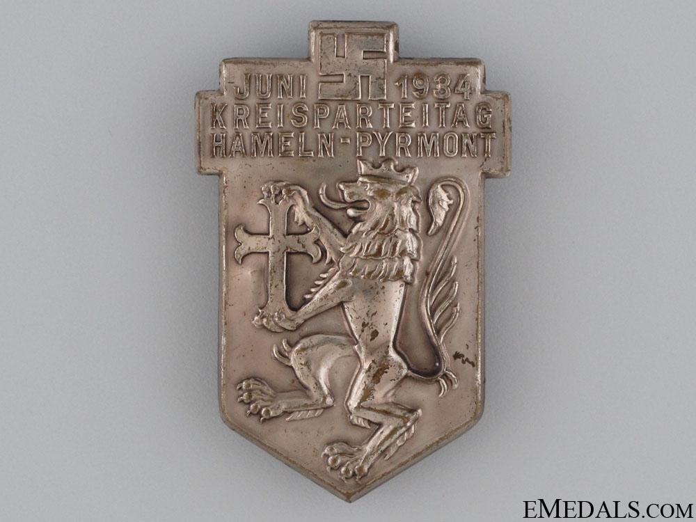 eMedals-1934 Kreisparteitag Tinnie