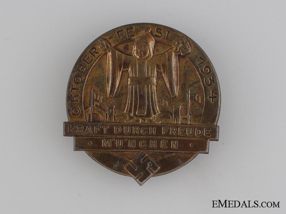eMedals-1934 München Oktoberfest Badge