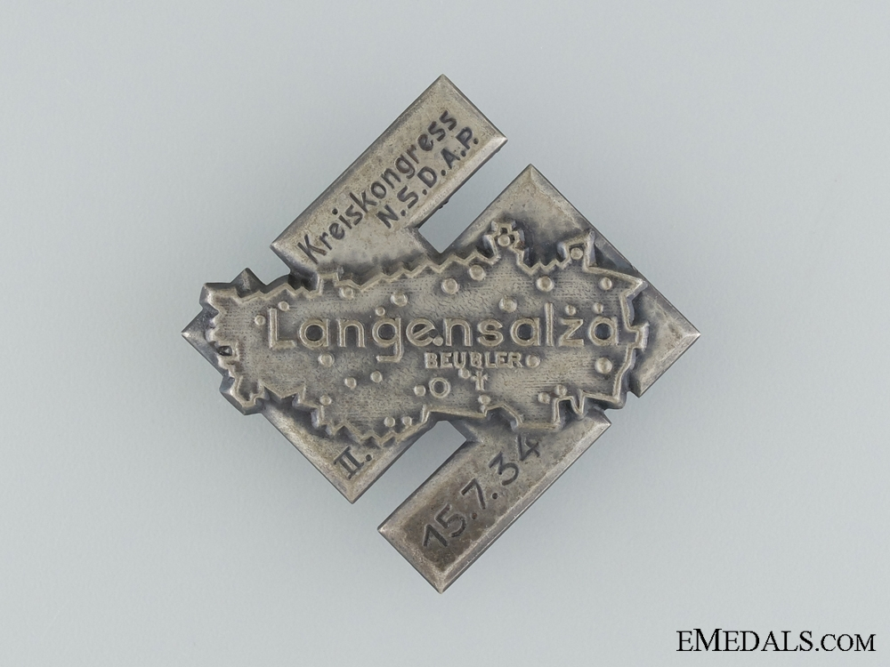 eMedals-1934 NSDAP 2nd Circle Congress Tinnie