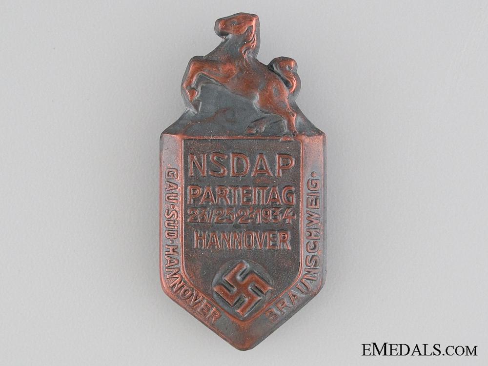 eMedals-1934 NSDAP Hannover Tinnie